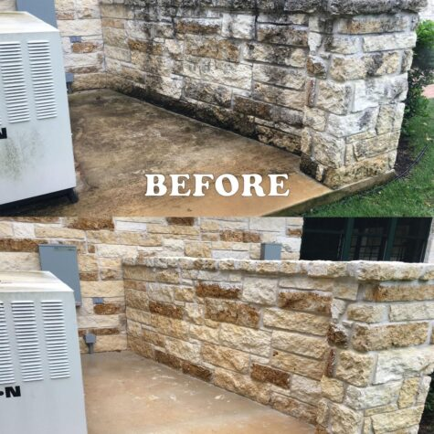 before and after power washing in Dallas TX