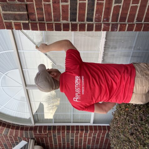 during window cleaning in Dallas