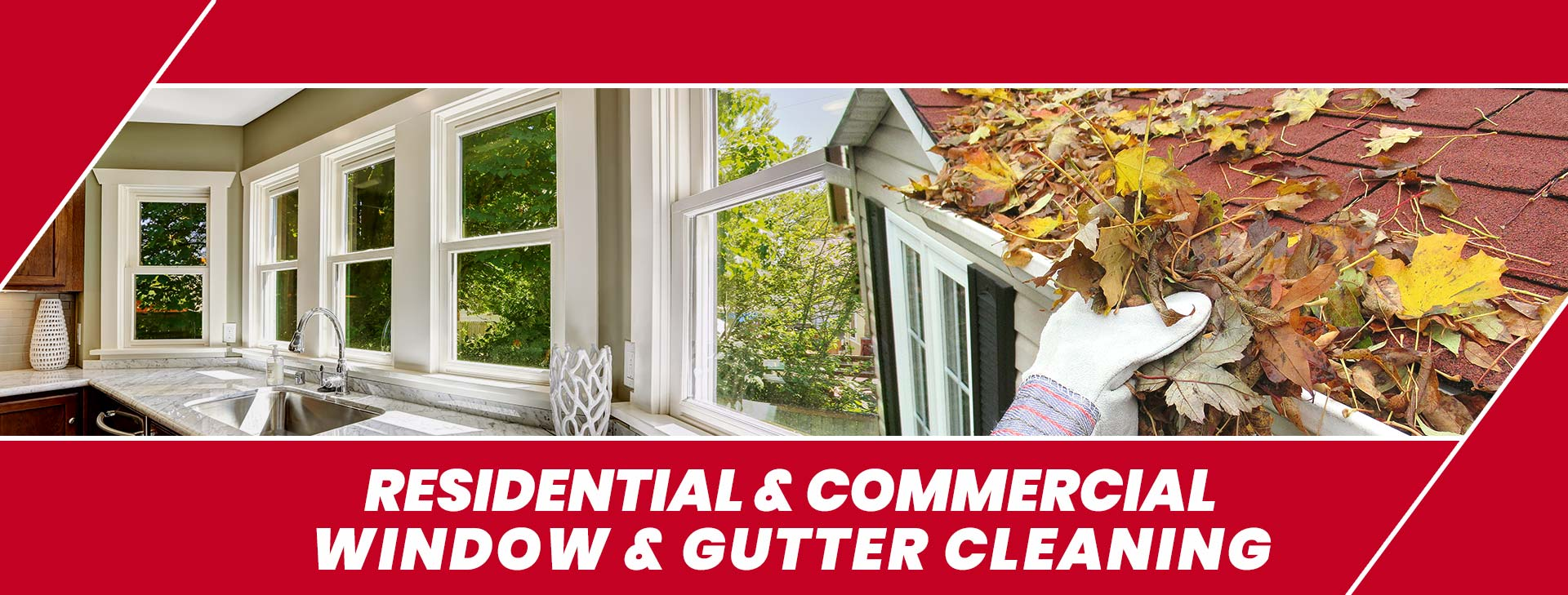 residential and commercial window and gutter cleaning